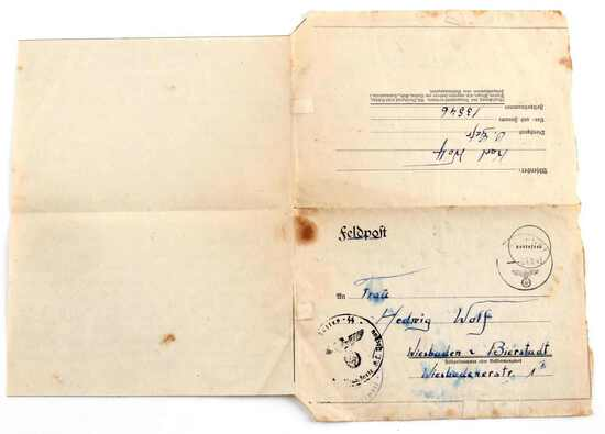 GERMAN WWII AUSCHWITZ CONCENTRATION CAMP LETTER