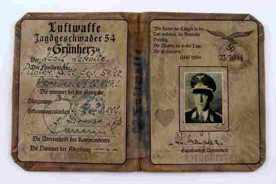 GERMAN WWII LUFTWAFFE KNIGHTS CROSS WINNER ID BOOK