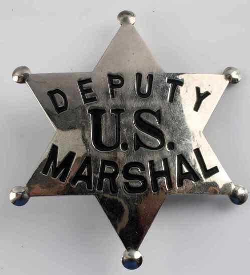 OLD WEST US DEPUTY MARSHAL COWBOY ERA LAW BADGE