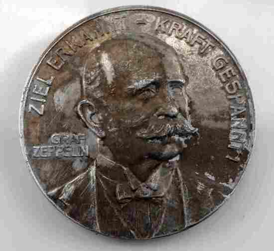 IMPERIAL GERMAN 1908 GRAF ZEPPELIN SOUVENIR MEDAL