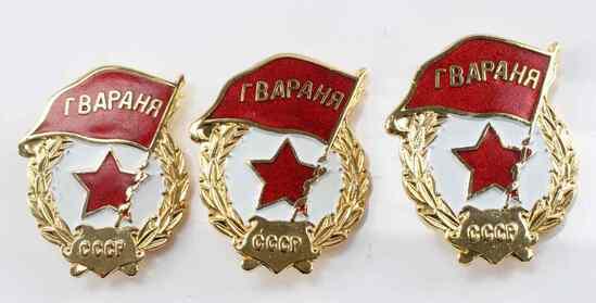 USSR COLD WAR ERA MILITARY CCCP RBAPAHR BADGE LOT