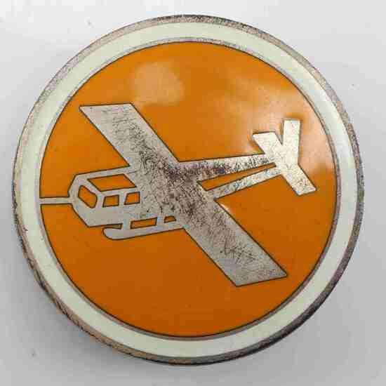US WWII AIRBORNE GLIDER CORPS OVERSEAS CAP BADGE