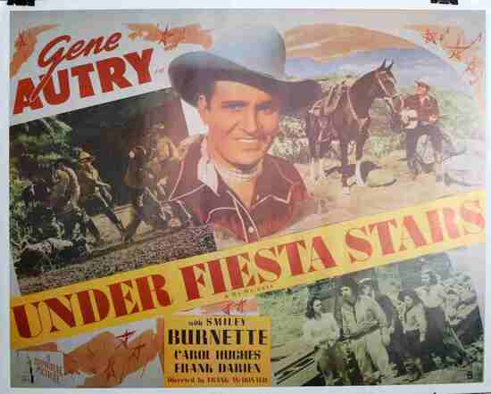 GENE AUTRY REPUBLIC PICTURES VINTAGE MOVIE POSTER