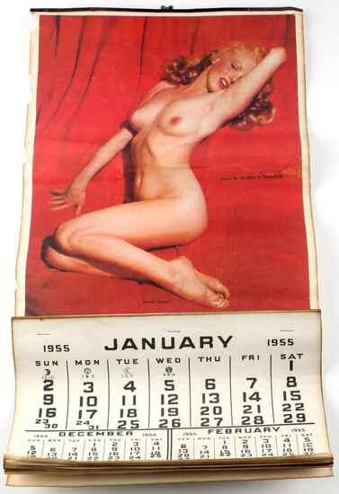 1955 VINTAGE MARILYN MONROE NUDE CALENDAR