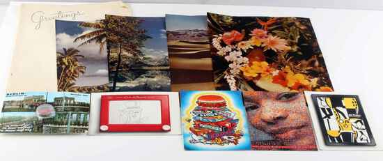 COLD WAR ERA  POSTCARD & BERLIN WALL PIECE LOT