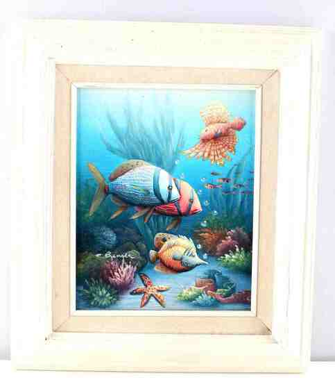 CHARLES REDMOND BENOLT TROPICAL FISH PAINTING