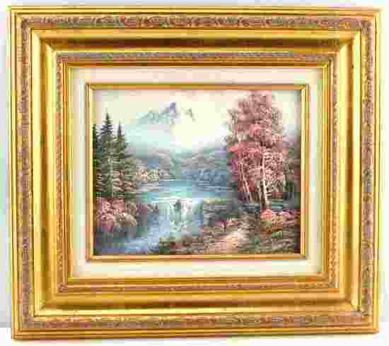 REALIST MOUNTAIN LANDSCAPE OIL PAINTING