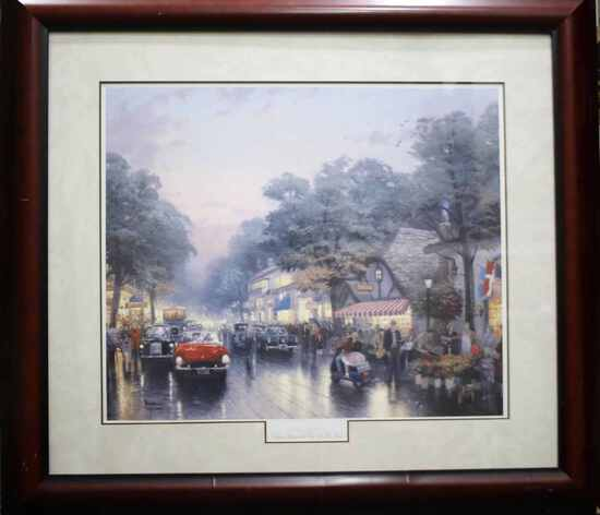 THOMAS KINKADE CARMEL SIGNED LIMITED EDITION LITHO