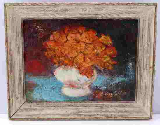 BORIS VASSILOFF FLORAL STILL LIFE OIL PAINTING