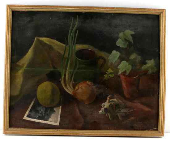 RICHARD CRIST ORIGINAL STILL LIFE OIL PAINTING