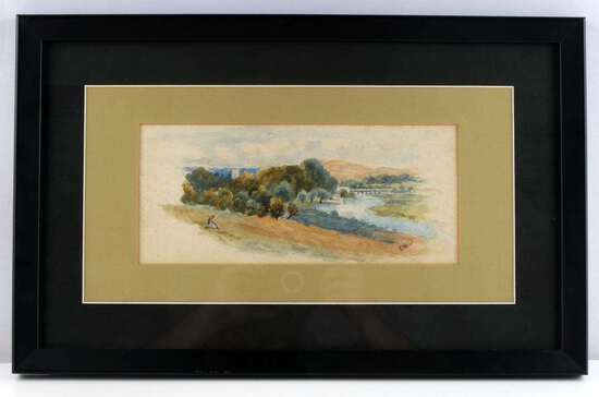 ADOLF HITLER SIGNED WATERCOLOR LANDSCAPE PAINTING