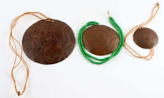 MISSISSIPPIAN CULTURE COPPER INCISED GORGET LOT