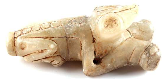 TAINO CULTURE COHOBA SNUFFING DEVICE FROG