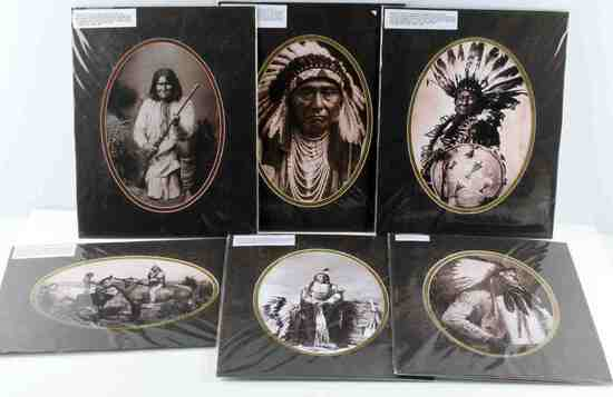 NATIVE AMERICAN PLAINS  PHOTO PORTRAIT PRINT LOT