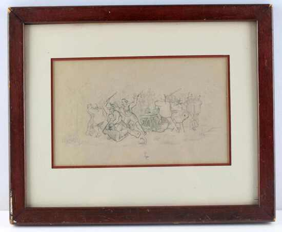 FLEMISH DUTCH DRAWING 17TH OR 18TH CENTURY BRAWL