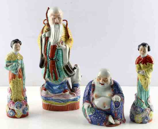 ANTIQUE CHINESE FIGURES FIGURINES BUDDHA FEMALE