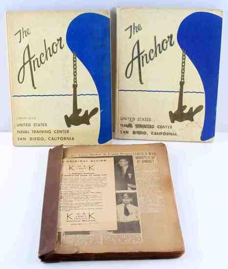 3 AMER LEGION 1950s NEWSPAPER CLIPPING BOOK LOT