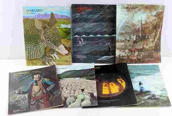 VINTAGE HARVARD MAGAZINE 1975 LOT OF 7 ISSUES