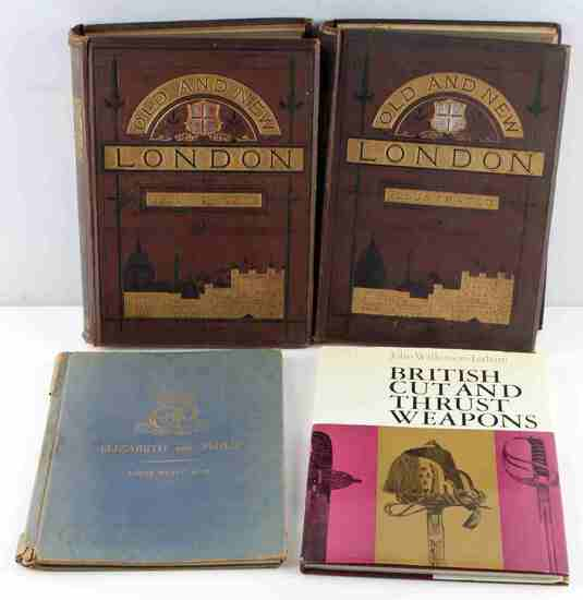 ENGLAND OLD & NEW LONDON & BRITISH WEAPON BOOK LOT