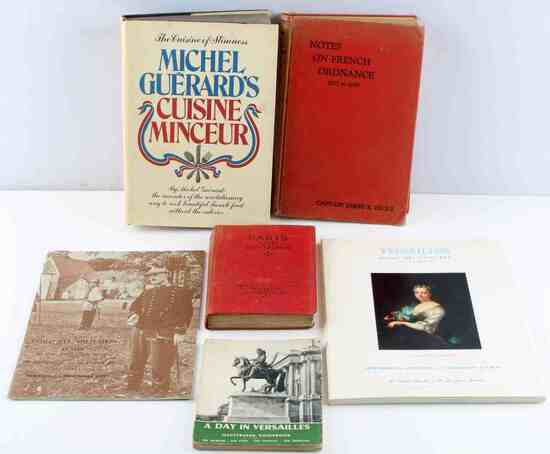 VINTAGE FRENCH MILITARY & VERSAILLES & FOOD 6 BOOK