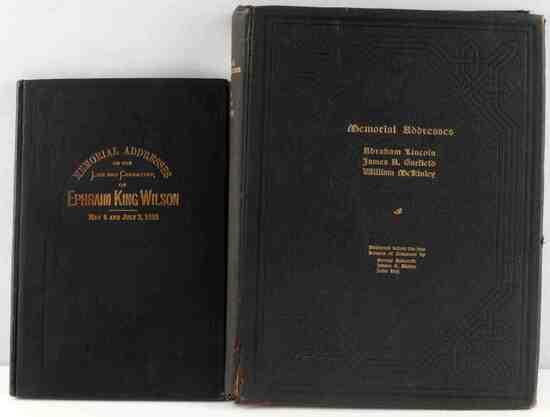 1903 LINCOLN GARFIELD MCKINLEY MEMORIAL ADDRESSES