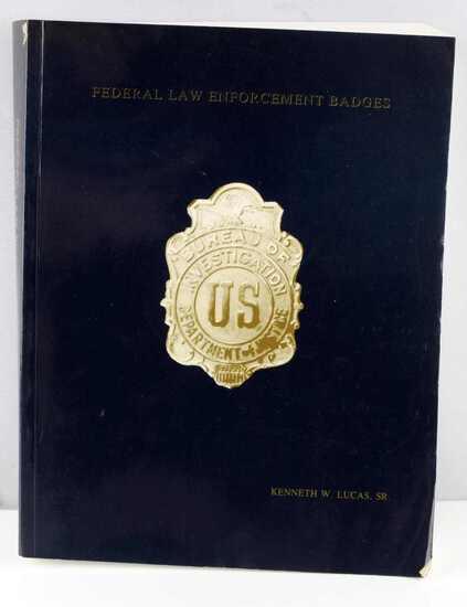 FEDERAL LAW ENFORCEMENT BADGES KENNETH LUCAS BOOK