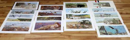 LOT OF 8 REMINGTON HUNTING HERITAGE PRINTS