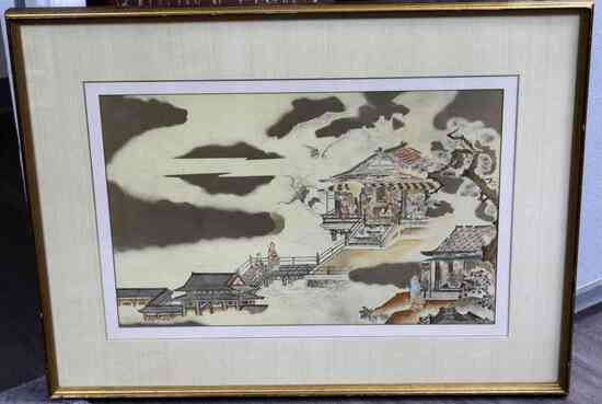 19TH CENTURY ANTIQUE JAPANESE WOODBLOCK PRINT