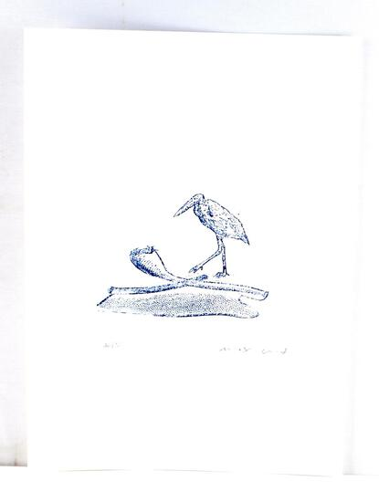 MAX ERNST BIRD LITHO PRINT SIGNED NUMBERED