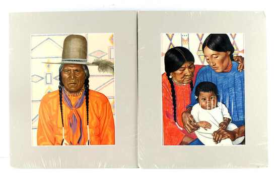WINOLD REISS NATIVE AMERICAN ART LITHOGRAPH