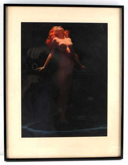 EARL MORAN OFFSET LITHOGRAPH OF NUDE WOMAN
