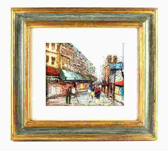 VINTAGE PARIS STREET SCENE ORIGINAL OIL PAINTING