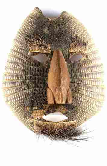 MEXICAN ARMADILLO FOLK ART DANCE HUAVE MASK