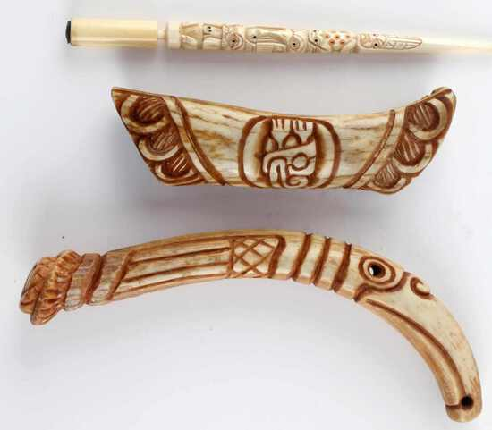 PACIFIC NORTHWEST SCRIMSHAW BONE &  ANTLER
