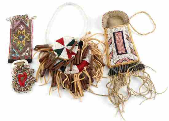 LOT OF 3 SOUTHWESTERN NATIVE AMERICAN MEDICINE BAG