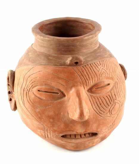 MIDWEST COHOKIA NATIVE AMERICAN HEAD EFFIGY POT