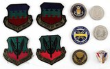 LOT 10 USAF MIXED LOT PATCHES TOKENS PINS STERLING