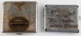 2 WWII THIRD REICH SS ZEPPELIN CIGARETTE CASE LOT
