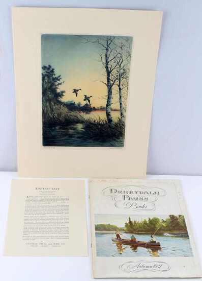 DERRYDALE PRESS SIGNED PRINT OF ROLAND CLARK