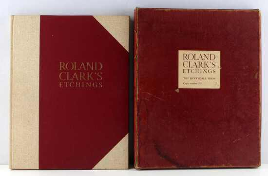 1938 ROLAND CLARK DERRYDALE PRESS BOOK ENGRAVINGS