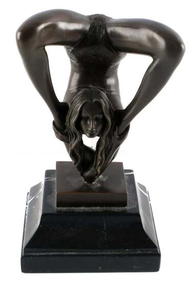 JEAN PATOUE EROTICA BRONZE FEMALE FIGURE