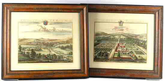JOHANNES KIP BRITISH GENTRY COLORED ETCHING PRINTS