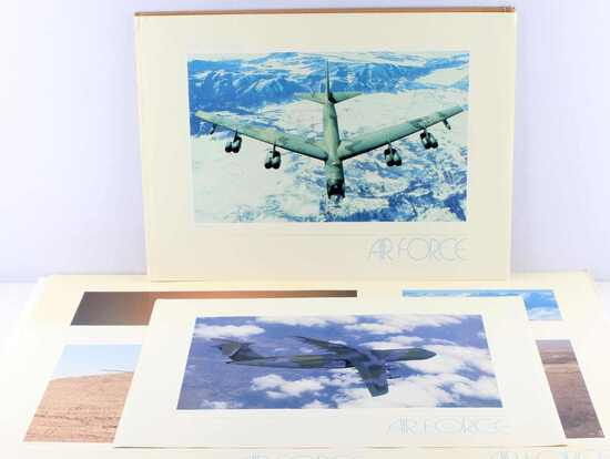 LOT OF 7 MODERN U.S. AIR FORCE AIR CRAFT PRINTS