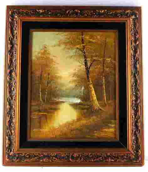 PHILLIP CANTRELL ORIGINAL VINTAGE FOREST PAINTING