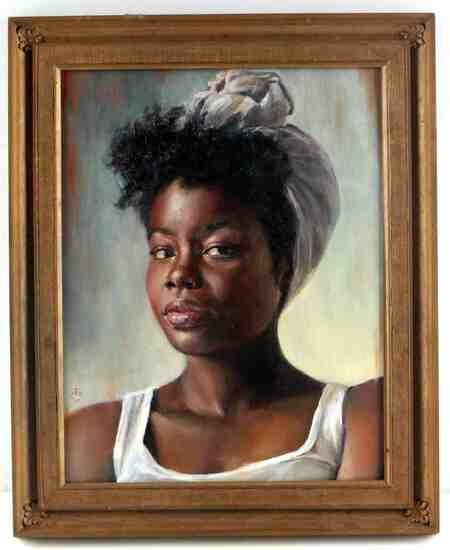KRISTEN VALLE REALIST PORTRAIT OF A BLACK WOMAN