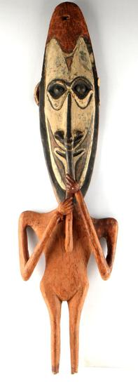 PACIFIC NORTHWEST CEREMONIAL WOODEN FIGURE