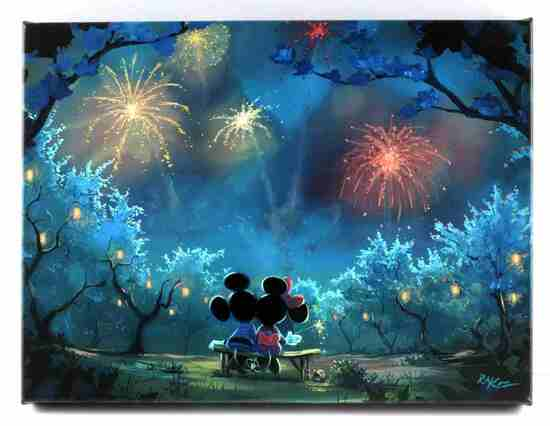 RON KAZ DISNEY MICKEY & MINNIE MOUSE CANVAS PRINT