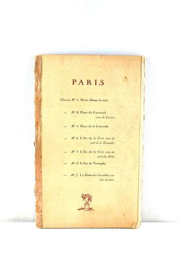 BOOK SET OF 7 PARIS PRINTS LOUVRE TOURNELLE