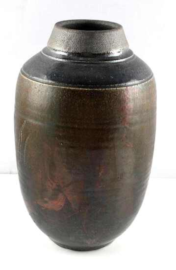 ARTISAN MADE STONEWARE ART POTTERY VASE