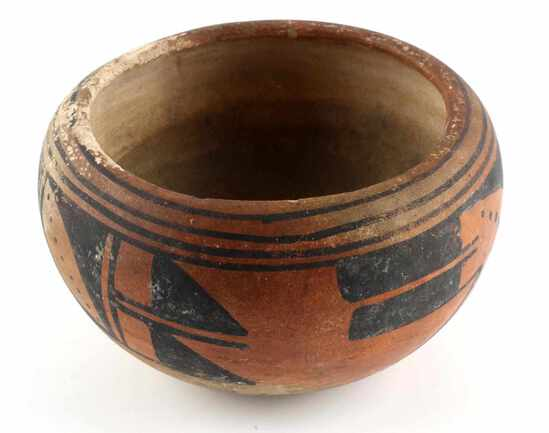 ANTIQUE NATIVE AMERICAN HOPI POTTERY BOWL